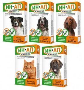 Астрафарм Капли против экто- и эндопаразитов ИН-АП для собак