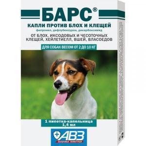 АВЗ Барс Капли против блох и клещей для собак