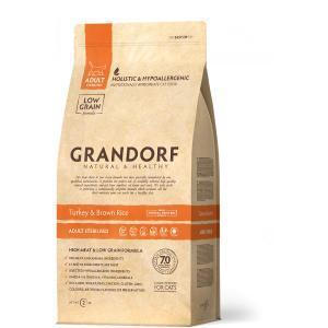GRANDORF Turkey&Rice Adult Sterilized Сухой корм для стерилизованных кошек, Индейка/Рис