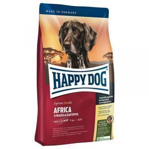 Happy Dog Africa Сухой корм для собак с чувствительным пищеварением Страус/Картофель