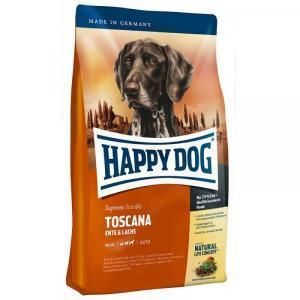 Happy Dog Toscana Сухой корм для собак с чувствительным пищеварением Утка/Лосось