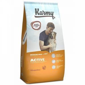 Karmy Active Medium&Maxi Сухой корм для активных собак средних и крупных пород, Индейка