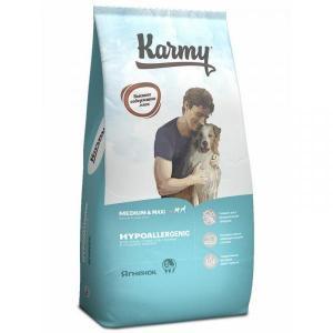 Karmy Hypoallergenic Medium&Maxi Сухой корм для собак средних и крупных пород, склонных к аллергии, Ягненок