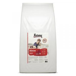 Karmy Medium Adult Сухой корм для собак средних пород, Индейка