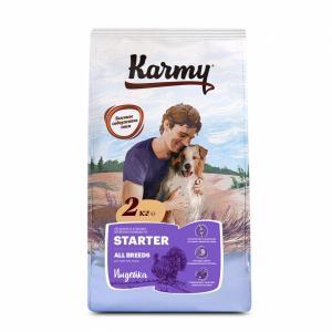 Karmy Starter Сухой корм для щенков до 4-х месяцев, Индейка