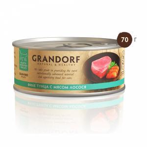 Консервы для кошек Grandorf Филе тунца с мясом лосося