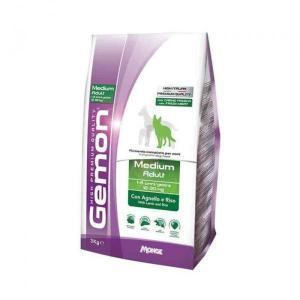 Корм для собак Gemon корм для взрослых собак средних пород, ягненок с рисом