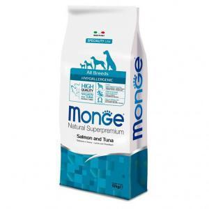 Monge Hypoallergenic c лососем и тунцом сухой корм для собак