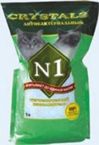 Наполнитель силикагелевый Crystals N1 Антибактериальный