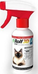 RolfClub 3D спрей от клещей и блох для кошек