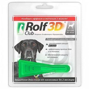 RolfСlub 3D капли от клещей и блох для собак