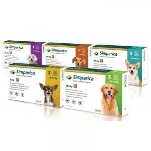 Симпарика (Zoetis) таблетки от блох и клещей для собак