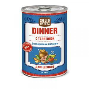 Solid Natura Dinner Влажный корм для щенков Телятина