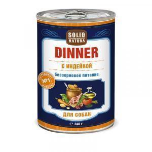 Solid Natura Dinner Влажный корм для собак Индейка