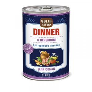 Solid Natura Dinner Влажный корм для собак Ягненок