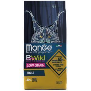 Сухой корм для кошек Monge BWild Cat Hare с мясом зайца