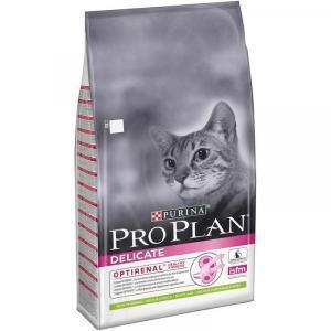 Сухой корм для кошек Purina Pro Plan Delicate при чувствительном пищеварении, с ягненком