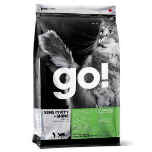 Сухой корм для котят и кошек GO! Carnivore при чувствительном пищеварении, беззерновой с форелью и лососем