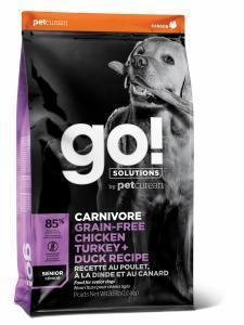 Сухой корм для пожилых собак GO! Carnivore, курица, индейка, утка