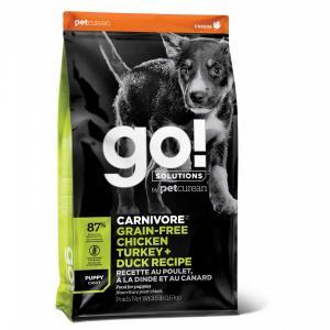 Сухой корм для щенков Go! Carnivore GF Chicken, Turkey + Duck Recipe с 4 видами мяса