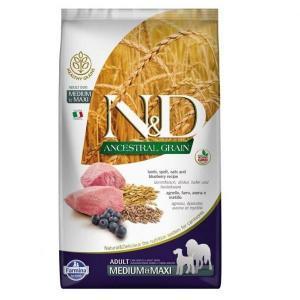 Сухой корм для собак Farmina N&D ягненок с черникой (для средних и крупных пород) низкозерновой