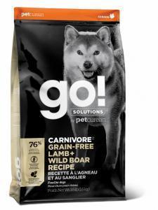 Сухой корм для собак GO! Carnivore беззерновой, ягненок, дикий кабан
