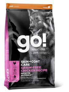 Сухой корм для собак GO! Skin+Coat, беззерновой, для здоровья кожи и шерсти, курица