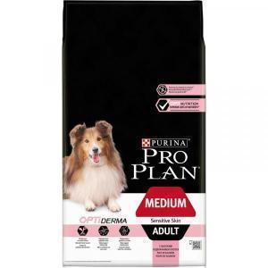 Сухой корм для собак Purina Pro Plan Optiderma для здоровья кожи и шерсти, лосось с рисом (для средних пород)