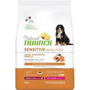 Trainer Fitness3 No Gluten Puppy Medium&Maxi Salmon, Rice and Oil Сухой корм для щенков
