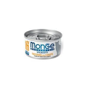 Влажный корм для кошек Monge Cat Monoprotein хлопья из индейки с морковью