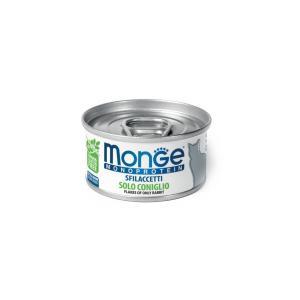 Влажный корм для кошек Monge Cat Monoprotein хлопья из кролика