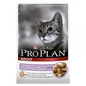 Влажный Корм для кошек Purina Pro Plan Nutrisavour для профилактики МКБ, беззерновой, с индейкой (кусочки в желе)