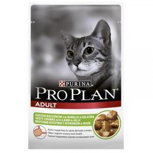 Влажный Корм для кошек Purina Pro Plan Nutrisavour для профилактики МКБ, беззерновой, с ягненком (кусочки в желе)