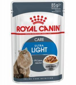 Влажный Корм для кошек Royal Canin Ultra Light (кусочки в соусе)