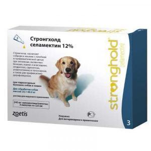 Zoetis (Pfizer) Капли от блох, клещей и гельминтов Стронгхолд 120 мг для собак